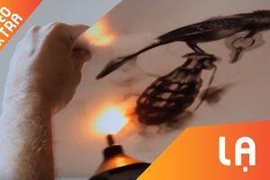 Nghệ thuật vẽ tranh bằng khói sắc nét từng chi tiết