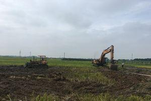 Vĩnh Phúc: San gạt Dự án Khu công nghiệp Chấn Hưng (Vĩnh Tường)