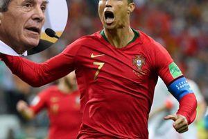 HLV Uruguay thừa nhận không thể ngăn cản Ronaldo