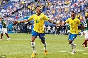 Neymar tỏa sáng rực rỡ, Brazil thẳng tiến vào tứ kết World Cup 2018