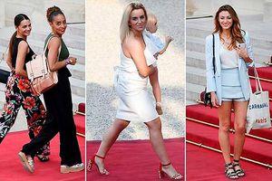 Vợ và bạn gái tuyển Pháp đến dinh Tổng thống dự tiệc