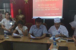 Vụ trao nhầm con ở Hà Nội: 2 gia đình đã trao nhận lại 2 con đẻ