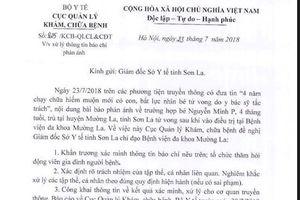 Bộ Y tế vào cuộc vụ bé trai 4 tháng tuổi tử vong ở Sơn La