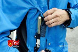 Xem áo túi khí 'Made in Vietnam' bảo vệ người điều khiển mô tô, xe máy