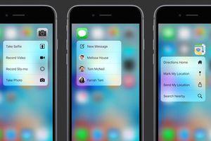 Ứng dụng nào có thể sử dụng được 3D Touch trên iPhone 6S?