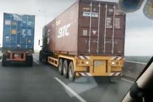 Xe container cố tình gây ùn tắc giao thông, bị xử lý thế nào?