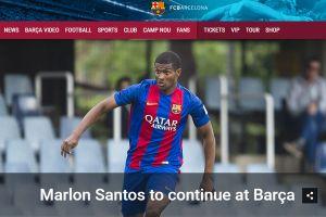 Barca chính thức có hợp đồng đầu tiên