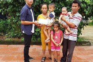 Bạn đọc 'góp gạo' nuôi 3 đứa trẻ không cha mẹ ở Vĩnh Phúc