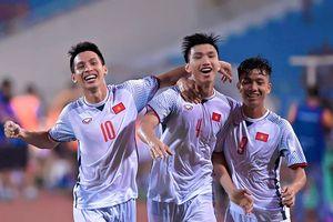 U23 Việt Nam 1- 0 U23 Oman: Siêu phẩm của Văn Hậu