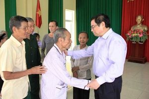 Đồng chí Phạm Minh Chính, Ủy viên Bộ Chính trị, Bí thư Trung ương Đảng, Trưởng Ban Tổ chức Trung ương thăm và làm việc tại tỉnh Thanh Hóa