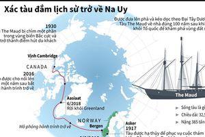 Xác tàu đắm lịch sử trở về Na Uy sau 100 năm