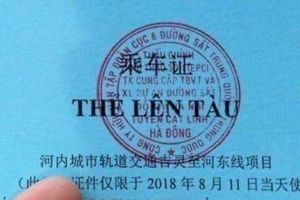 Ban Quản lý dự án Đường sắt nói về thẻ lên tàu song ngữ Việt -Trung