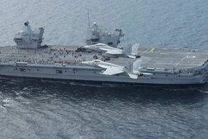 Tàu sân bay khủng của Anh chuẩn bị tập trận chung với Mỹ