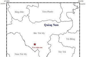 Liên tiếp xảy ra động đất ở huyện Bắc Trà My