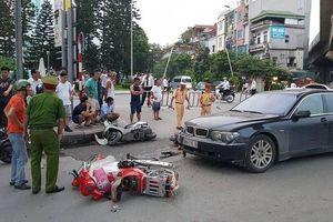 Nữ tài xế lái BMW gây tai nạn liên hoàn, ít nhất 2 cháu bé bị thương