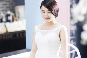 Nhã Phương e ấp, đẹp như tiên giáng trần khi diện váy cưới tinh khôi