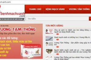 Hàng loạt website quảng cáo thực phẩm bảo vệ sức khỏe sai phạm