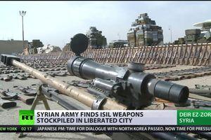 Syria phát hiện kho vũ khí,đạn dược xuất xứ phương Tây trong tay IS