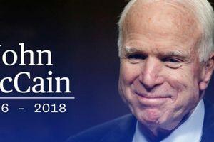 Thượng nghị sĩ Mỹ John McCain qua đời vì u não