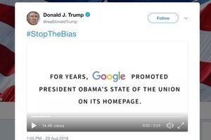 TT Trump tiếp tục công kích Google trên Twitter