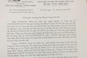 Tuyển sinh không phép tại TPHCM: Một trường Cao đẳng bị Tổng cục Giáo dục Nghề nghiệp 'tuýt còi'