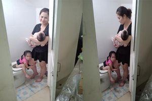 Hình ảnh lột tả sự vất vả của người mẹ khiến ai xem cũng phải gật gù đồng cảm