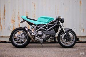 Ducati 848 cafe fighter độ màu sắc lạ mắt