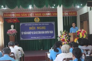 Tập huấn nghiệp vụ cho 106 cán bộ công đoàn