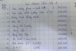 Thông tin mới nhất về vụ lạm thu đầu năm ở Tiểu học Sơn Đồng