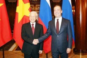 Tổng Bí thư Nguyễn Phú Trọng hội kiến Thủ tướng LB Nga D.Medvedev