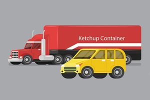 6 kỹ năng lái xe an toàn khi 'chạm trán' xe container