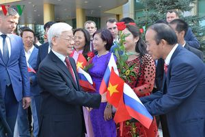 Toàn cảnh ngày đầu tiên Tổng Bí thư Nguyễn Phú Trọng thăm chính thức LB Nga