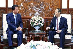 Chủ tịch nước Trần Đại Quang tiếp Đại sứ đặc biệt Việt - Nhật
