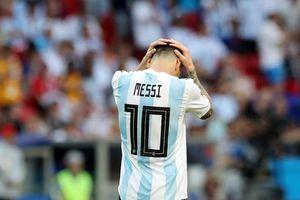 i tuyn Argentina b trng áo s 10 ch Lionel Messi tr li