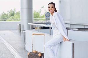 Khả Trang khoe chân dài miên man tại sân bay trước khi lên đường tham dự Siêu mẫu Quốc tế
