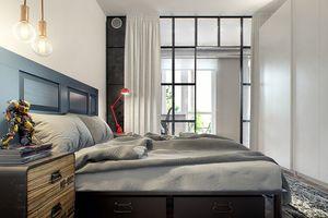 Căn hộ một phòng ngủ phong cách công nghiệp