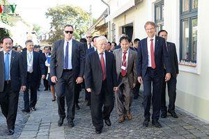 Những hình ảnh đầu tiên của Tổng Bí thư Nguyễn Phú Trọng tại Hungary