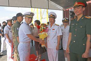 Đà Nẵng: Đón tàu khu trục Hải quân Hàn Quốc ROKS Moon Mu The Great