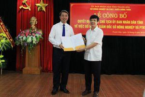 Ông Lê Đức Giang giữ chức Giám đốc Sở NN&PTNT Thanh Hóa