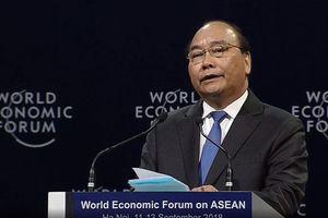 Khai mạc WEF ASEAN 2018: Thủ tướng đề xuất ASEAN hòa mạng di động một giá cước