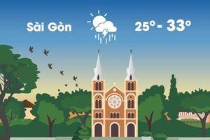 Thời tiết ngày 12/9: Hà Nội, Sài Gòn đều có mưa dông