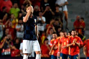 Thiếu vắng hàng loạt trụ cột, ĐT Croatia thảm bại trước Tây Ban Nha