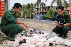 Kiềm chế buôn lậu thuốc lá ngoại trên tuyến biên giới Long An