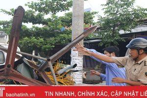 Ra quân 'lấy lại' vỉa hè 4 tuyến đường xung quanh chợ Hà Tĩnh