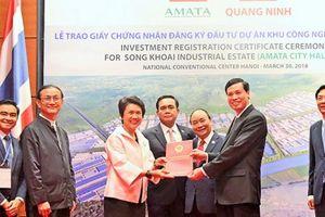 Tập đoàn Amata đầu tư 155 triệu USD phát triển KCN Sông Khoai 714 ha tại Quảng Ninh