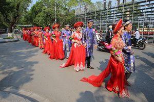 12 cặp đôi trong lễ cưới tập thể tại Thừa Thiên-Huế