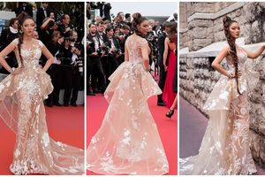 Thảm đỏ Cannes 2018 ngày 2: Lý Nhã Kỳ hóa bà hoàng 'báo đen' huyền bí chiếm trọn vẹn spotlight