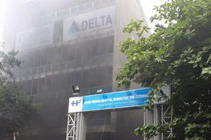 Lại cháy công trình đang xây dựng trong bệnh viện