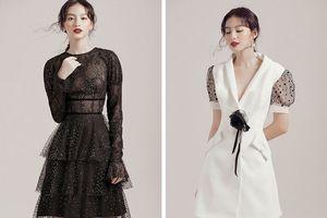 Gợi ý trang phục gam màu đen trắng cho ngày Hè