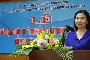 Hà Nội phát động cuộc thi 'Tìm hiểu Bộ luật Hình sự 2015'